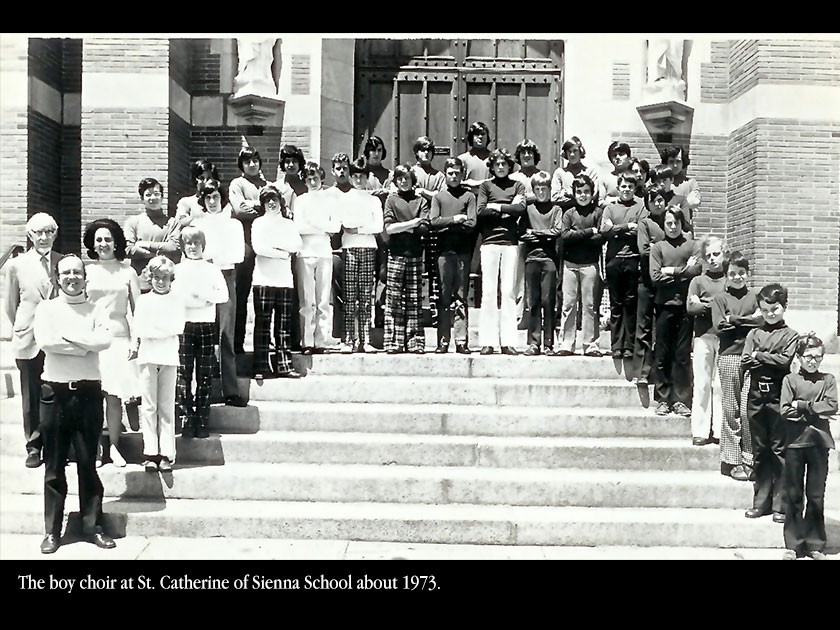 The boy choir at St. Catherine of Sienna School about 1973.