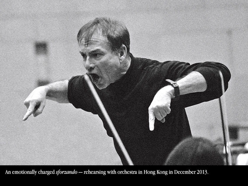 rehearsing with orchestra in Hong Kong in December 2013